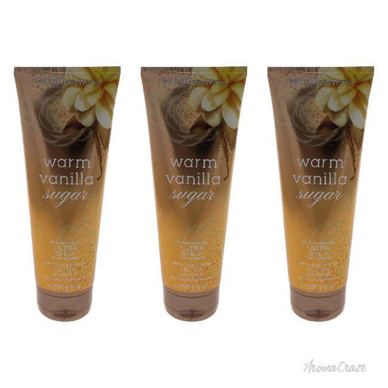 Picture of Warm Vanilla Sugar Ultra Shea Body Cream by Bath and Body Works for Women 8 oz Body Cream Pack of 3