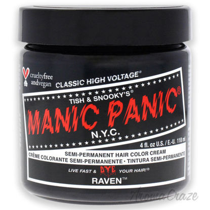 Picture of Classic High Voltage Hair Color Raven by Manic Panic for Unisex 4 oz Hair Color