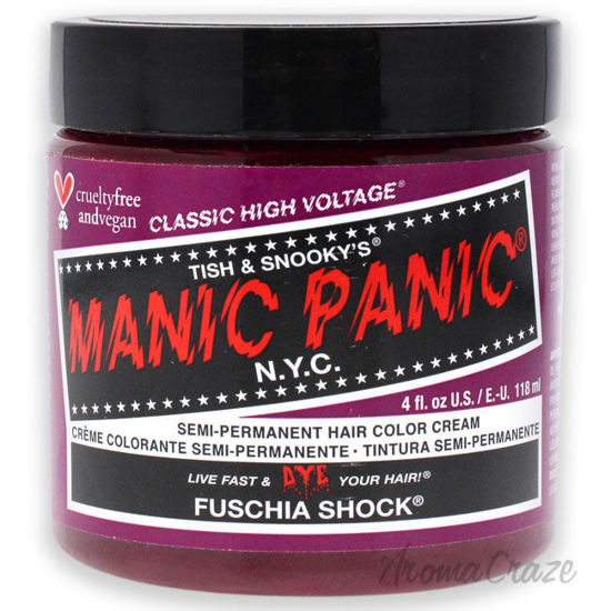 Picture of Classic High Voltage Hair Color Fuschia Shock by Manic Panic for Unisex 4 oz Hair Color