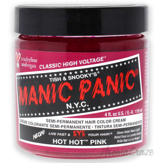 Picture of Classic High Voltage Hair Color Hot Hot Pink by Manic Panic for Unisex 4 oz Hair Color