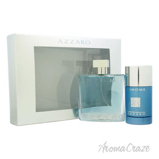 Picture of Chrome by Azzaro for Men 2 Pc Gift Set 3.4oz EDT Spray, 2.7oz Alcohol Free Deodorant Stick