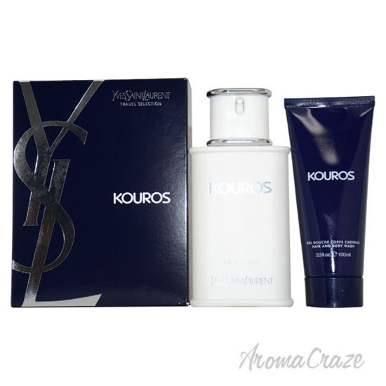 Picture of Kouros by Yves Saint Laurent for Men 2 Pc Gift Set 3.3oz EDT Spray, 3.3oz Hair And Body Wash