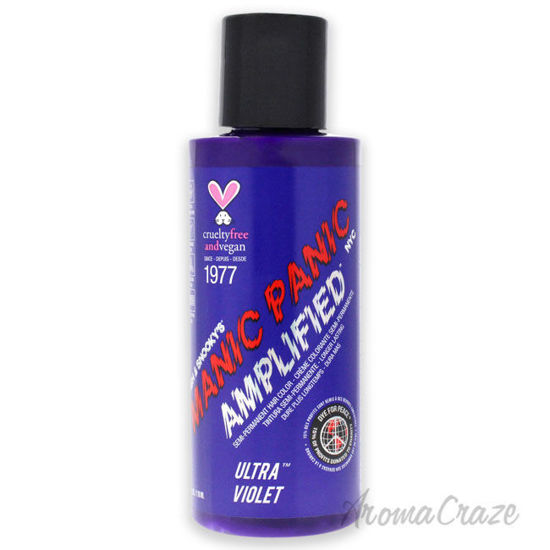 Picture of Amplified Semi Permanent Hair Color Cream Ultra Violet by Manic Panic for Unisex 4 oz Hair Color