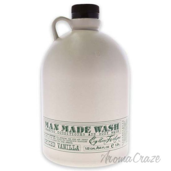 Picture of Man Made Wash - Spiced Vanilla by 18.21 Man Made for Men - 64 oz 3-In-1 Shampoo, Conditioner and Body Wash
