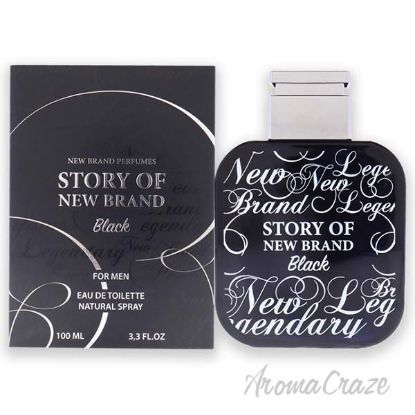 Picture of Story Of New Brand Black by New Brand for Men - 3.3 oz EDT Spray