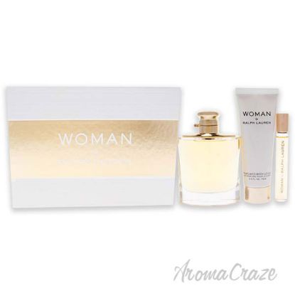 Picture of Woman by Ralph Lauren for Women 3 Pc Gift Set 3.4oz EDP Spray, 2.5oz Perfumed Body Lotion, 0.34oz EDP Rollerball