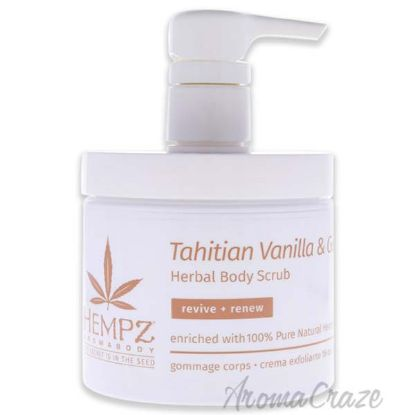 Picture of AromaBody Tahitian Vanilla and Ginger Herbal Body Scrub by Hempz for Unisex - 16 oz Scrub