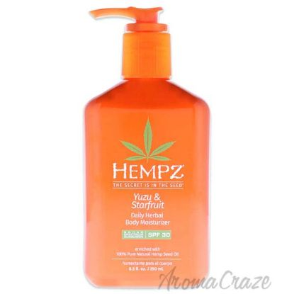 Picture of Yuzu and Starfruit Daily Herbal Body Moisturizer SPF 30 by Hempz for Unisex - 8.5 oz Moisturizer