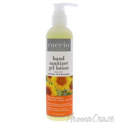 Picture of Hand Sanitizer Gel Lotion - Sunflower Oil and Eucalyptus by Cuccio for Unisex - 8 oz Hand Sanitizer