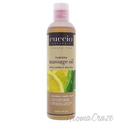 Picture of Hydrating Massage Oil - White Limetta and Aloe Vera by Cuccio for Unisex - 8 oz Oil
