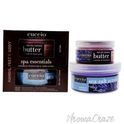 Picture of Spa Essentials Kit - Lavender and Chamomile by Cuccio for Women - 2 Pc 19.5oz Sea Salt Scrub, 8oz Butter Blend