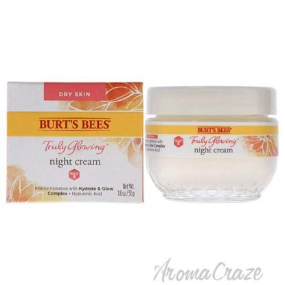 Picture of Truly Glowing Night Cream - Dry Skin by Burts Bees for Unisex - 1.8 oz Cream