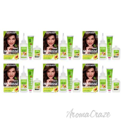 Picture of Nutrisse Nourishing Color Creme 61 Light Ash Brown by Garnier for Unisex 1 Application Hair Color Pack of 6