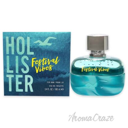 Picture of Festival Vibes by Hollister for Men 3.4 oz EDT Spray