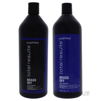 Picture of Total Results Brass Off Shampoo and Condioner Kit by Matrix for Unisex 2 Pc Kit