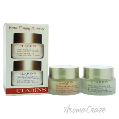 Picture of Extra Firming Partners Day Cream 50ml & Night Cream 50ml All skin types by Clarins for Unisex 2 Pc Set